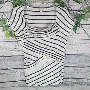 Anthropologie Postage Stamp striped layered top M